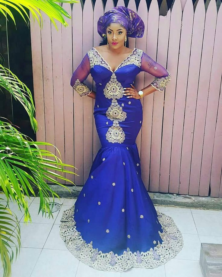 Explore latest aso ebi styles, Ankara Long Gown, Ankara Combination, Lace, African Fabrics, Aso-ebi fashion styles & amazing hairstyles on A Million Styles.