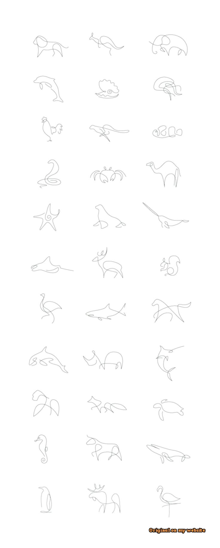 Drawing Art Tumblr How To Draw An Animal With Just A Single Line Steemit Artdrawingsaesthetic Ar One Line Animals One Line Tattoo Continuous Line Tattoo
