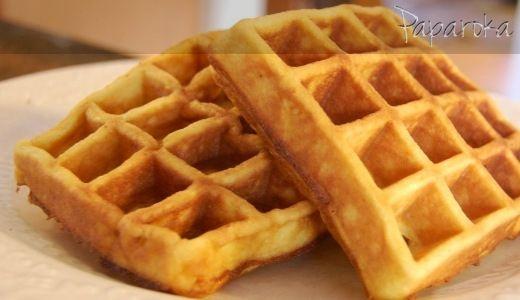 Massa de Waffles no Liquidificador