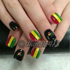 rasta nail designs - Google Search
