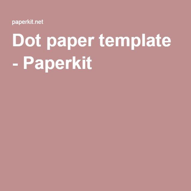 Dot paper template - Paperkit AGENDA Pinterest Template - dot paper template