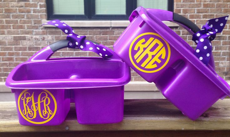 Personalized Shower Caddy. LSU Dorm Room Caddy. Perfect Graduation gift! Choose your School Colors for your Monogram. by MonogramCollection on Etsy