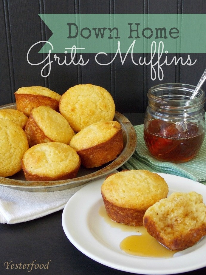 Yesterfood : Down Home Grits Muffins--never had these before but they look yummy!