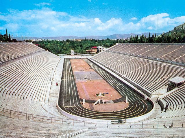 Panathinaiko Olympic Stadium, Athens, Greece - Ran a lap just because we could in the first olympic stadium on our honeymoon :-)