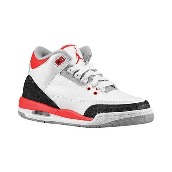 Jordan Retro 3 Boys' Grade School ($120) ❤ liked on Polyvore featuring shoes, jordans and sneakers