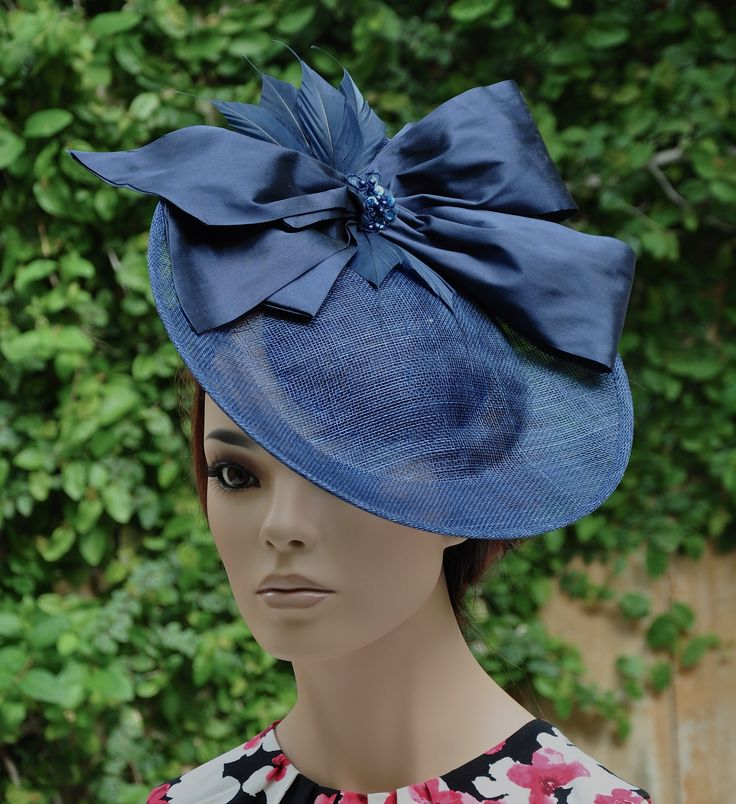 Kentucky Derby Hat, Ladies Navy Hat, Women's Navy Hat, Royal Ascot Hat, Form… – Spring Carnival Race Hats