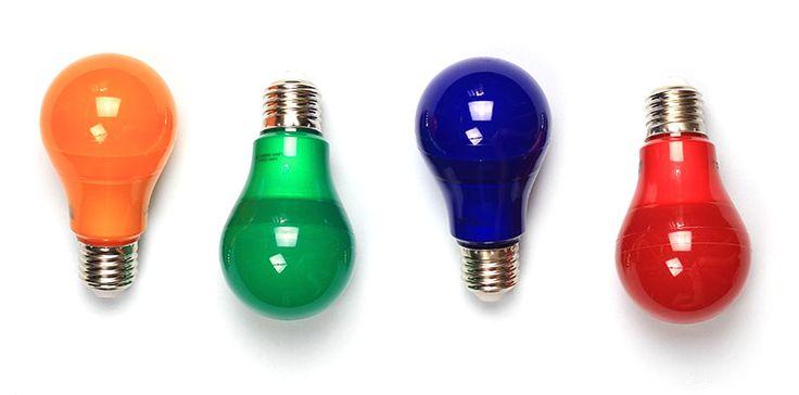 Por que usar lâmpadas coloridas? Vermelha, azul, verde, laranja: conheça a função de cada uma.