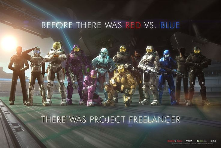 Project Freelancer: before there was red vs blue, there was project Freelancer:) my favorites are Washington, York, and Florida, (AKA Captain Flowers)