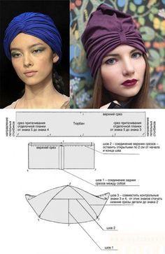 How to sew a stylish turban...♥ Deniz ♥