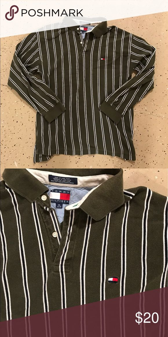 Vintage Tommy Rugby Vintage striped rugby Pullover shirt