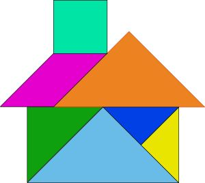 Tangram House Blocks Clip Art Svg Free Images For Lots Of Games