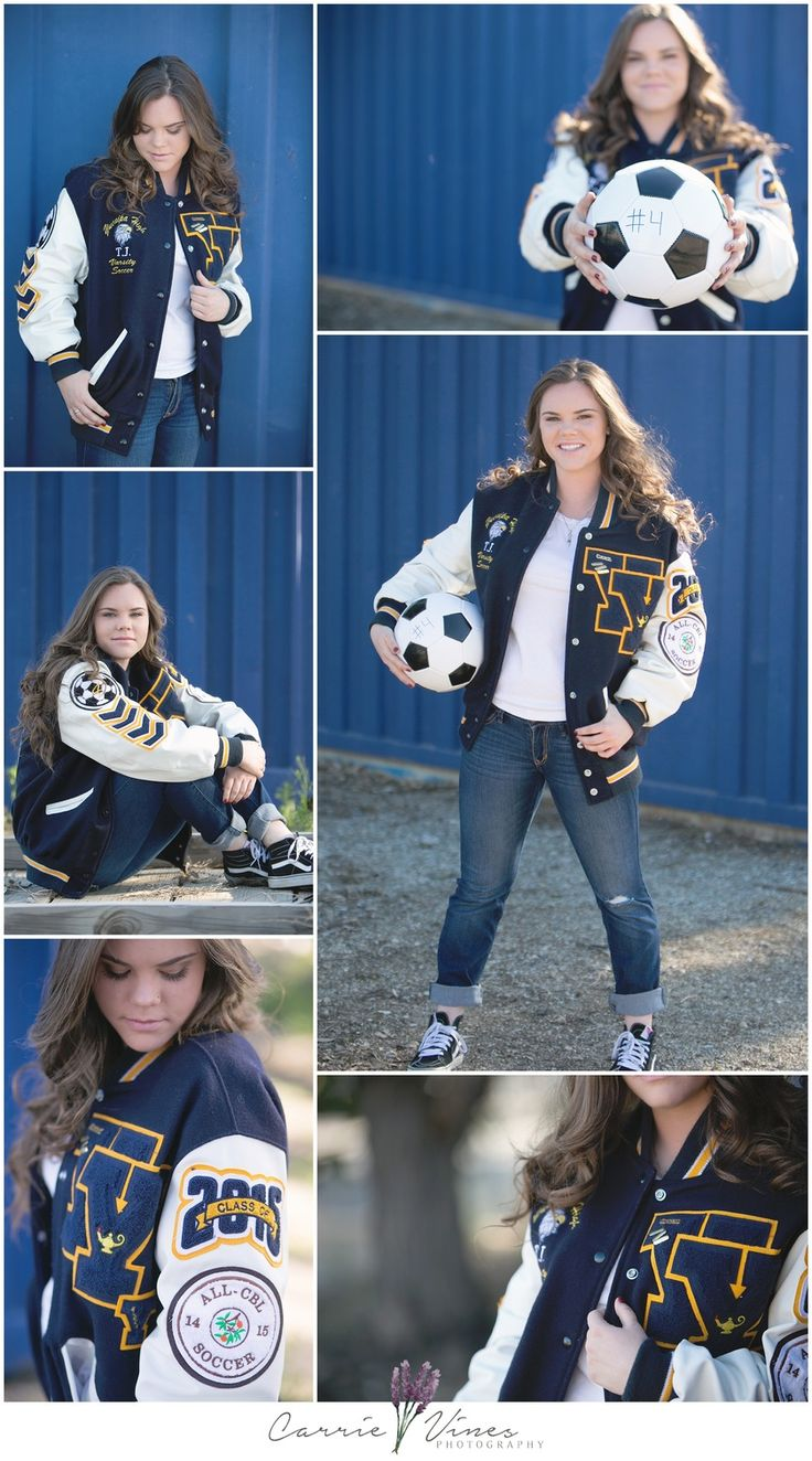yucaipa senior photography carrie vines soccer themed senior session letterman jacket YHS Class of 2016
