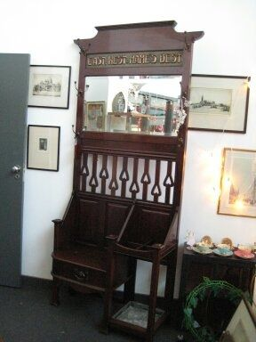 Shapland and Petter mahogany hall stand