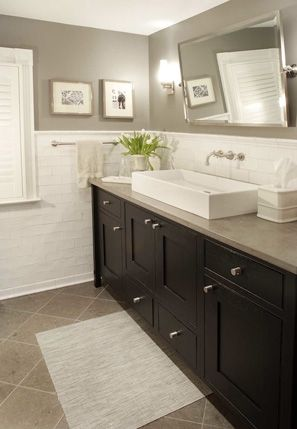 I like the way the faucet comes out of the wall and the cabinets, we are going to do something similar.