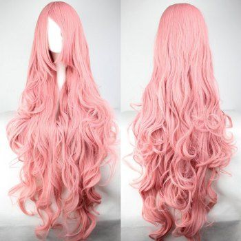 SHARE & Get it FREE | Super Long 100CM Pink Shaggy Long Curly Side Bang Vocaloid Megurine Luka Charming Cosplay WigFor Fashion Lovers only:80,000+ Items·FREE SHIPPING Join Dresslily: Get YOUR $50 NOW!