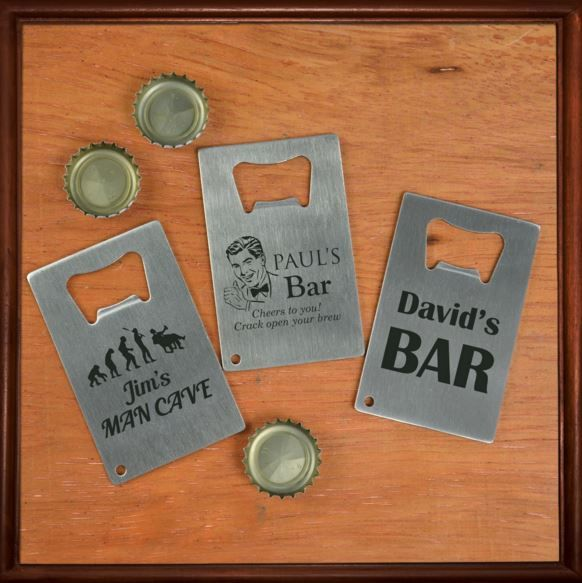 Engraved Barware Credit Card Bottle Opener
