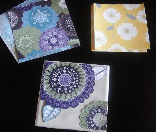 yet another thing I have made -- my sister and her (soon to be) husband will be receiving a set of coasters as their wedding present. I suggest using a sponge brush like the blog shows and not a paintbrush to apply the mod podge ...