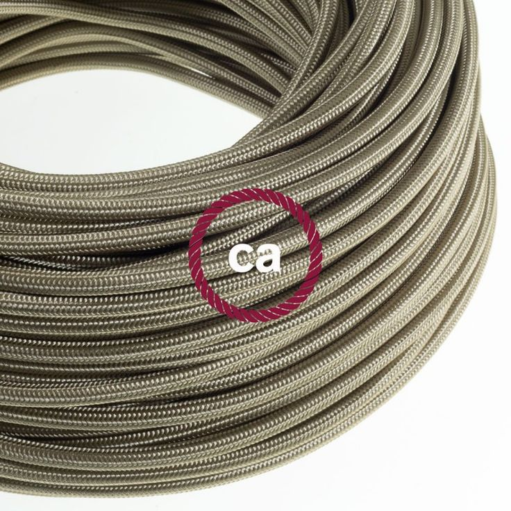 The new Cipria cable - Smart and modern, for chic living rooms and lounges! | Find them at www.creative-cables.com! #CreativeCables #BeCreative #homedecor #design #lighting #interiors #beleuchtung #cables #electriccables #fabriccables #colouredcables #wiring #rayon #silk #cipria #grey