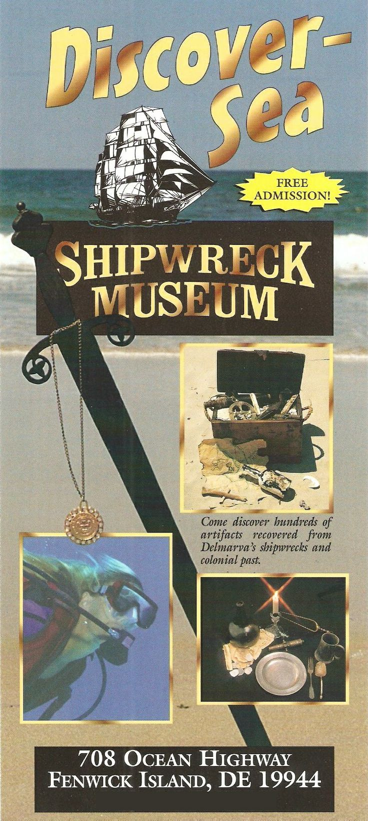 Fantastic museum with loads of artifacts found on shipwrecks.  Free admission!