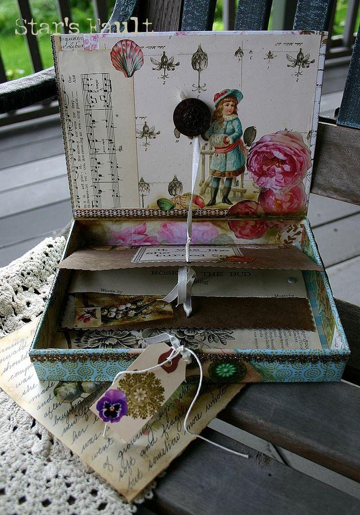 321 best cigar box craft art images on pinterest cigar for Cardboard cigar box crafts