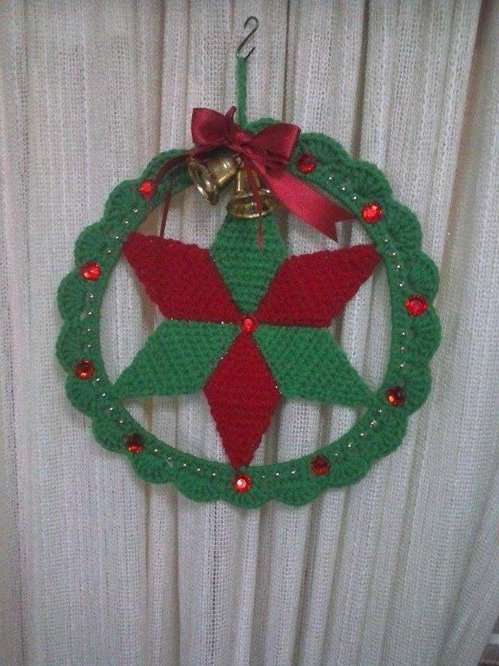 Adorno Navideño Tejido Al Crochet Mi Tejido Artesanal - $ 140,00 ...