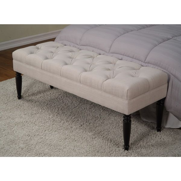 Claudia Diamond Wales Beach Tufted Bench - Overstock™ Shopping - Great Deals on Benches