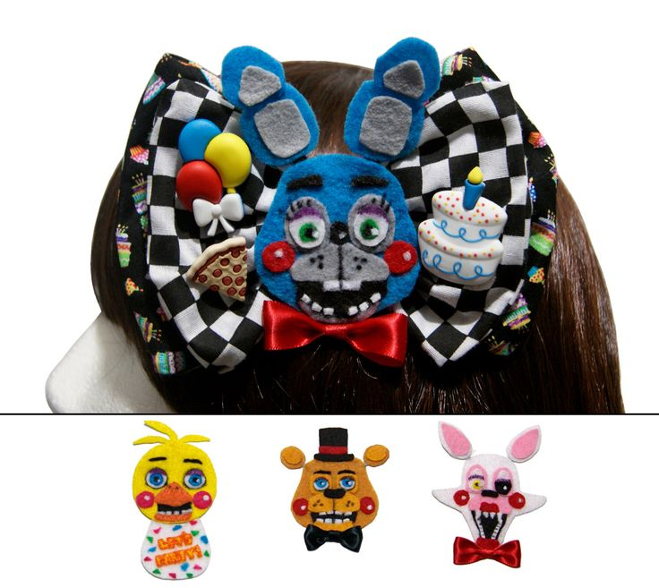 Five nights at freddy s freddy s fazbears pizza toy character bow