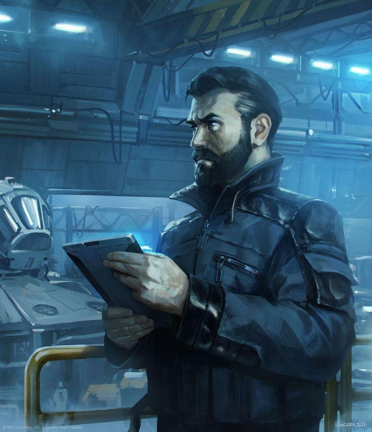 Human shipyard mechanic, space opera / sci-fi character inspiration