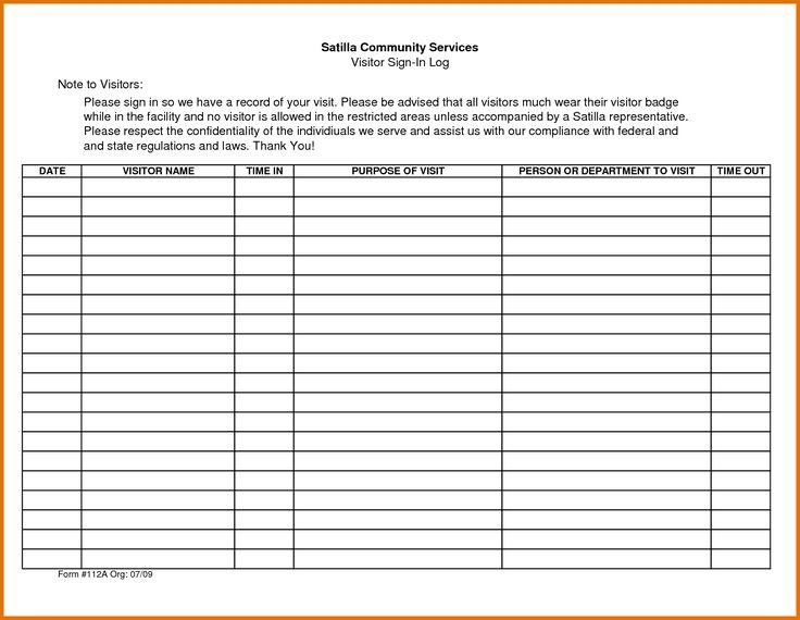 Attendance Log Template Pin Reading Sheets On Pinterest Visitor Sheet Download : Masir