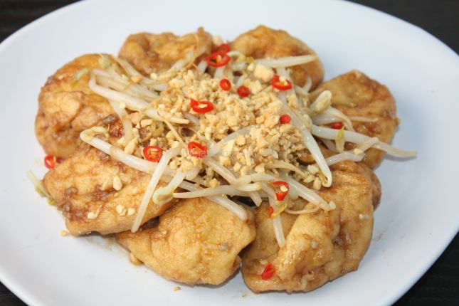 Fried Tofu with Tamarind Sauce