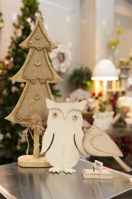 Owl, Table Tree and Bird Christmas Ornaments