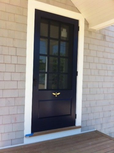 Wood Storm Door with Screen Insert | CUSTOM WOODEN SCREEN/STORM DOORS