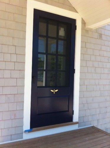 Wood Storm Door with Screen Insert   CUSTOM WOODEN SCREEN/STORM DOORS
