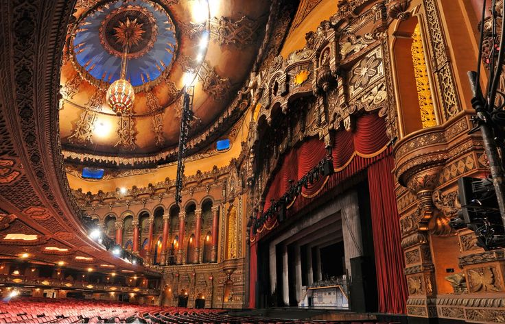 The Fabulous Fox Theatre, St. Louis, MO.  I've seen some amazing performances in this place; but as many times as I've been, I still gawk.