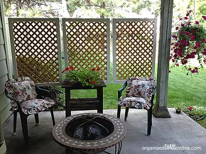 how to make an easy patio privacy screen step by step tutorial, outdoor living(maybe for the trash can project)