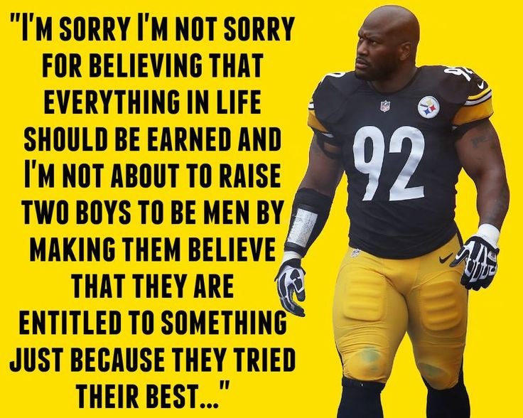 Pittsburgh Steelers' James Harrison strips his kids of non-winning participation trophies, saying he wants them to EARN a real trophy.