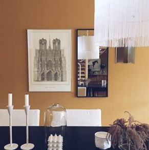 """Dining room painted with """"india yellow""""from  #farrowandball #farrowball #dining #urbancollectionprojects"""