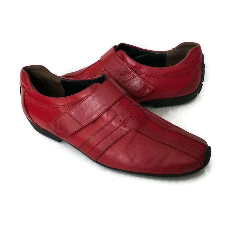 Paul Green Munchen Womens Loafers Size 7 Narrow Driving Shoe Sneaker Red Leather #PaulGreen #LoafersMoccasins #Casual