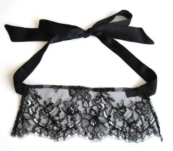 florence black silk lace eye mask halloween costume by lalilouche 5200 - Black Eye Mask Halloween