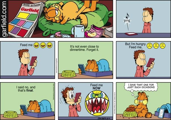 Food cravings created by jim davis garfield is about the - Funny garfield pics ...