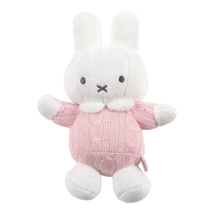 TIAMO Plyšový chrastící zajíček Miffy růžový | Kašpárek Baby