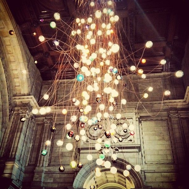 Bocci light installation at the V&A Museum in the entrance hall - Wow!