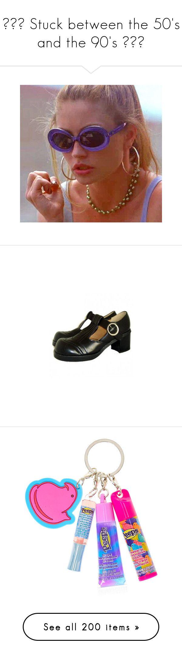 """💗🌸♡ Stuck between the 50's and the 90's ✧💜🍒"" by queenofrocknroll ❤ liked on Polyvore featuring shoes, pumps, heels, footwear, black, black platform pumps, black shoes, black heeled shoes, t strap platform pumps and high heel platform pumps"