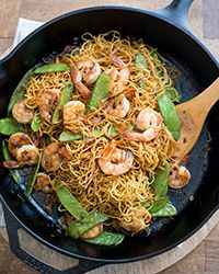 Easy enough for a last-minute dinner, this shrimp chow mein recipe will satisfy cravings for take-out.   Slideshow: More Chinese Recipes