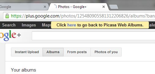 We've known for some time that Google would be transitioning users away from its Picasa photo-sharing service to Google+ Photos, but now that process is nearly complete. Google has begun to redirect users from the old Picasa URL (picasweb.google.com) to Google+ Photos, which currently still offers a way to return to the old Picasa Web Albums interface during this transitional period.