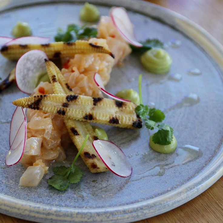 Blue Cafe at Inveresk - loving this pink snapper ceviche. Image credit: Ross Marsden/Tasweekend  #tasmania #launceston