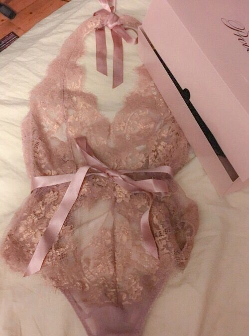 valentine's day gifts| sexy blush lace halter bodysuits --20+ Fabulous Lingeries(bodysuits) You Still Need In Fall and Winter.
