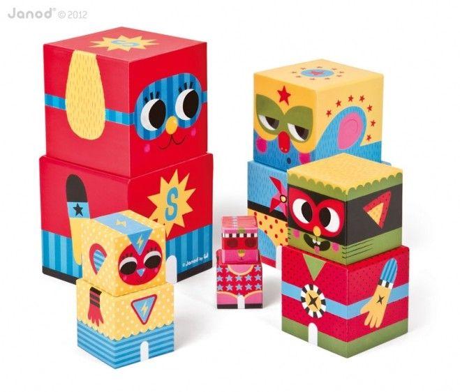 Kolorowe klocki piramida dla dzieci, świetna #zabawka dla najmłodszych,Janod