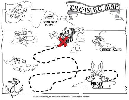 Image result for free printable pirate treasure map
