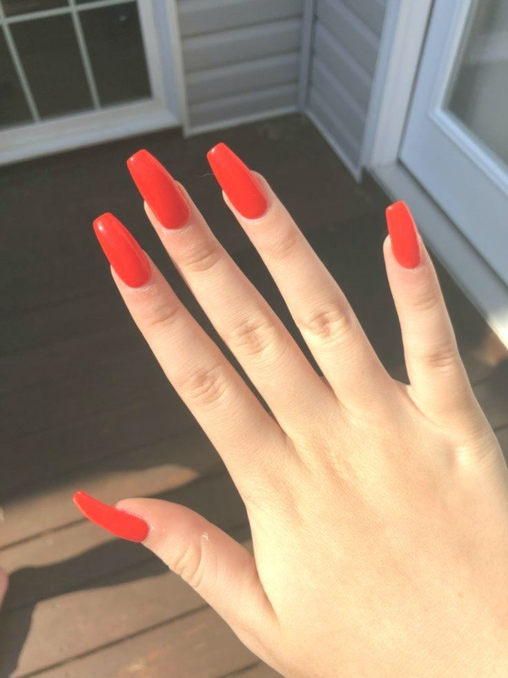 Red Orange Acrylic Coffin Nails Acrylicnails E2k Fashion Orange Acrylic Nails Coffin Nails Red Nails